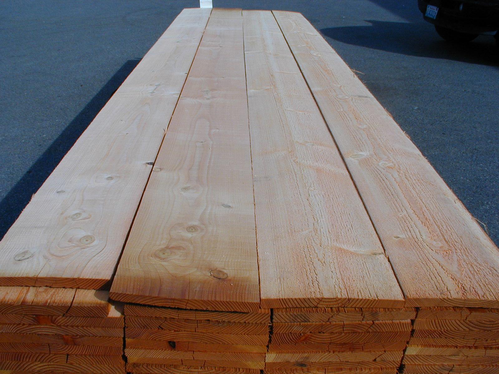 Bear Creek Lumber Douglas Fir Boards Rough Cut