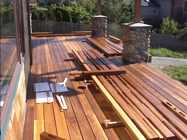 Western Red Cedar Deck About To Be Installed
