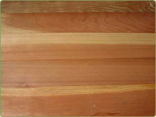DETAILED IMAGE OF CLEAR ALL HEART VERTICAL GRAIN CALIFORNIA REDWOOD