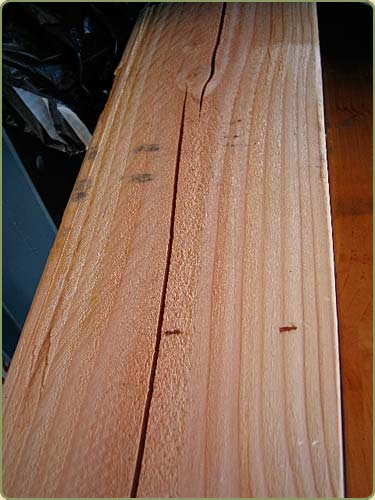 DETAILED IMAGE OF NUMBER 2 TIMBER DOUGLAS FIR GRADE
