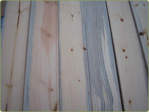 DETAILED IMAGE OF SPRUCE #3 COMMON TONGUE AND GROOVE BOARDS