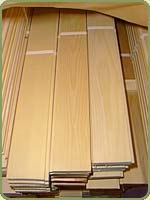 vertical clear grain double flush paneling