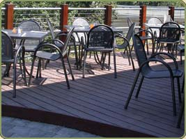 detail of 1x4 clear ipe decking