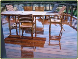 a deck with ipe boards