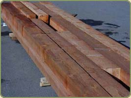 6x8 standard and better red cedar beams image
