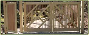 alaskan yellow cedar custom gates