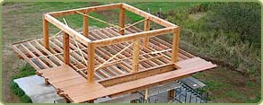 alaskan yellow cedar timberframe project with cedar floors and decks