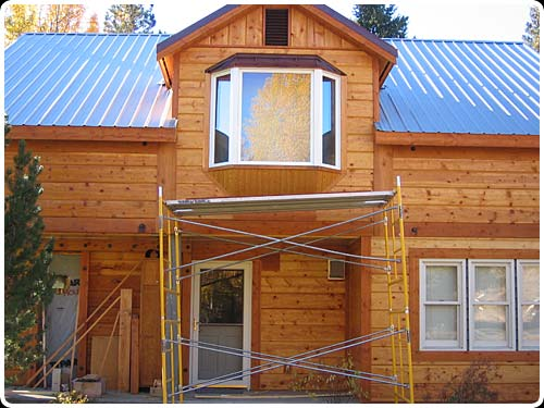 large image of the port orford tongue and groove siding installation