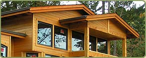port orford cedar tongue and groove siding and post and beams