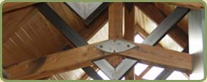 recycled douglas fir siding and soffits, and post and beams in red cedar project