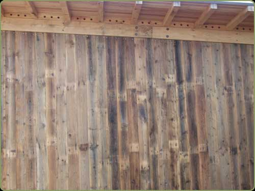 large image of the recycled dougals fir exterior siding