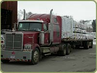 loaded truck ready to delivery