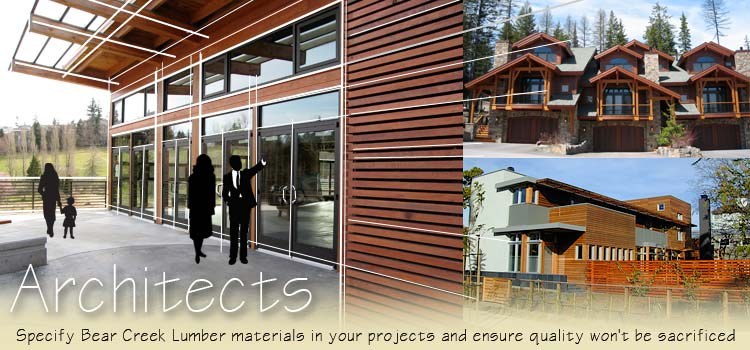 architeccts can speciffy bear creek lumber products