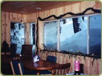 picture of blue pine intyerior paneling