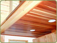 redwood ceiling