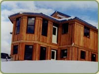 western red cedar siding image