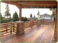 red cedar deck in the bradshaw home