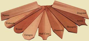 Available shingle cuts from bear creek lumber